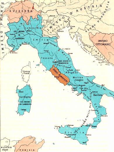 Landkort Over Italien Sydeuropa Lande Europa Vaegkort